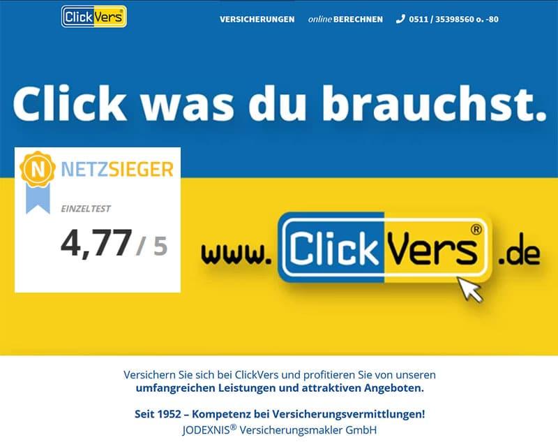 Netzsieger-ClickVers-Einzeltest