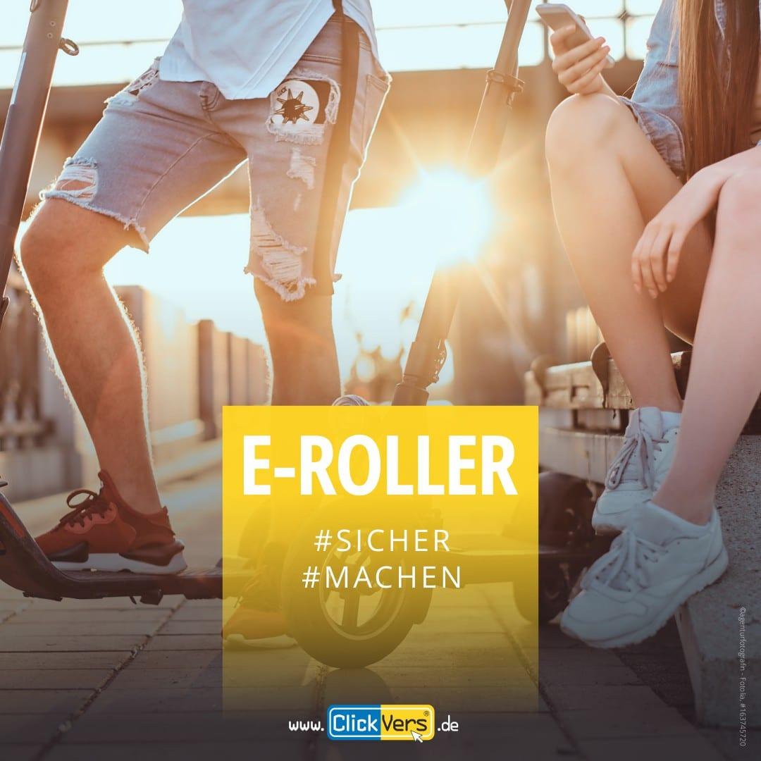 ClickVers - E-Scooter - E-Roller - Unfallversicherung