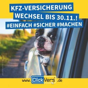 Kfz-Versicherung – Wechsel bis zum 30. November!
