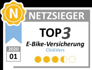 ClickVers - Top3-E-BikeVersicherungen - Netzsieger